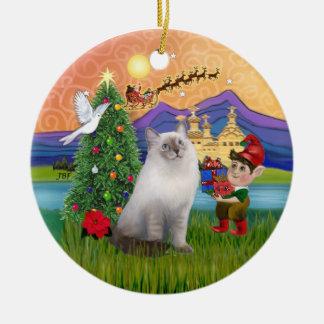 Christmas Fantasy - Ragdoll cat (blue seal point) Christmas Ornament