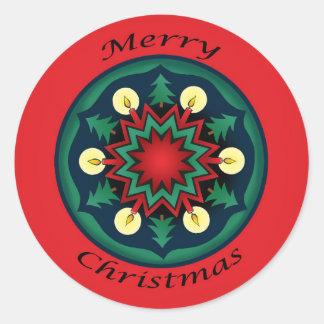 Christmas Fantasy Round Sticker