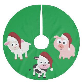 Christmas Farm Animals Brushed Polyester Tree Skirt