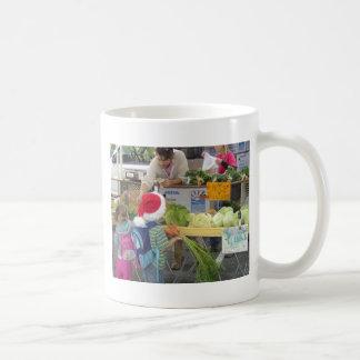 Christmas Farmer's Market Bag Basic White Mug