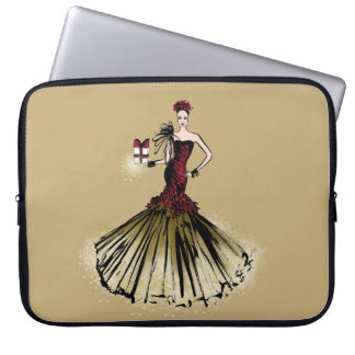 Christmas Fashion Illustration with parcel Laptop Sleeve
