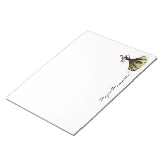 Christmas Fashion Illustration with parcel Notepad