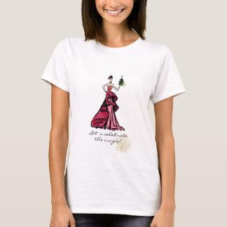 Christmas Fashion Illustration with tree T-Shirt