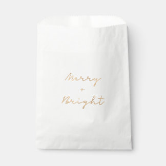Christmas favor bag with faux gold lettering