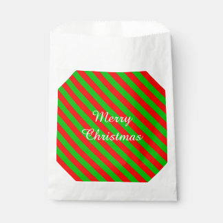 Christmas Favor Bags/Green and Red Stripes Favour Bags