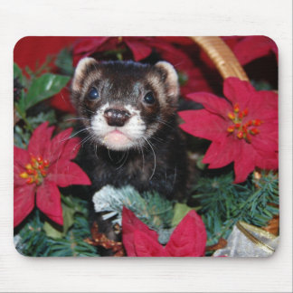 Christmas Ferret Mouse Pad