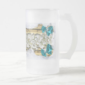 Christmas festive coffee decorations beer frosted glass mug