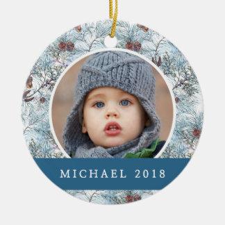 Christmas | Festive Pinecone Pattern Christmas Ornament