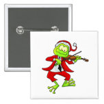 Christmas Fiddle Frog Button