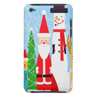 Christmas Figures Barely There iPod Cases