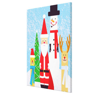 Christmas Figures Gallery Wrapped Canvas