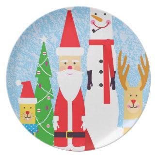 Christmas Figures Plate