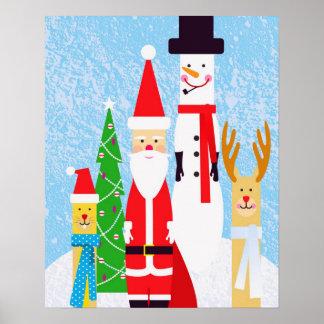 Christmas Figures Poster