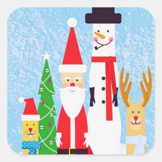 Christmas Figures Square Sticker