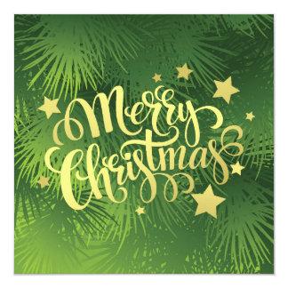 Christmas Fir Tree 13 Cm X 13 Cm Square Invitation Card