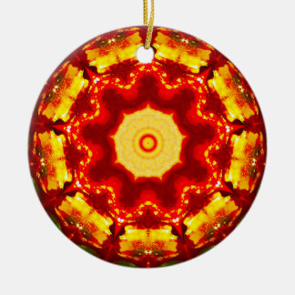 Christmas Fire Fractal Christmas Ornament