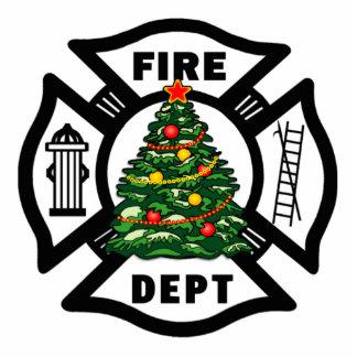 Christmas Firefighter Photo Sculptures