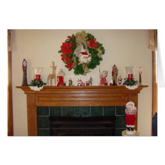 Christmas Fireplace/Hearth Card