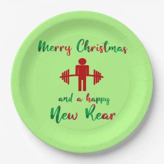 Christmas Fitmas Fitness Funny Gym Plates