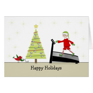 Christmas Fitness Greeting Card-Happy Holidays Card