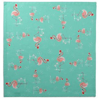 Christmas Flamingo Multi napkin set