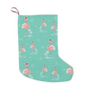 Christmas Flamingo Multi stocking
