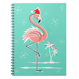Christmas Flamingo notebook