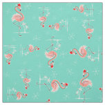 Christmas Flamingo Twist small pattern fabric