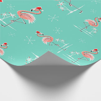 Christmas Flamingo Twist wrapping paper