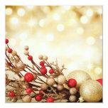 Christmas Flat card Personalised Invite