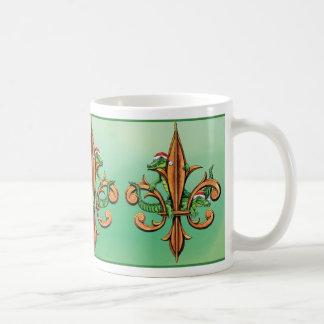 Christmas Fleur-de-lis with Alligators Coffee Mug