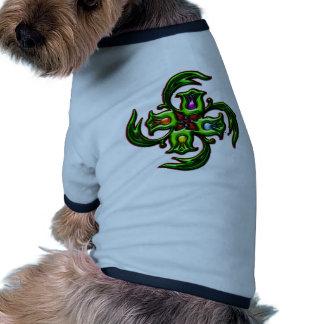 Christmas Floral Design Ringer Dog Shirt