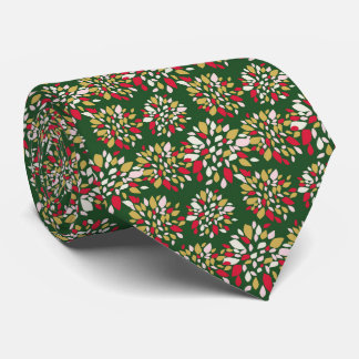 Christmas Floral Festive Classic Holiday Tie