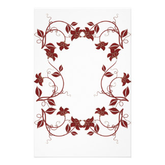 Christmas Floral Stationery