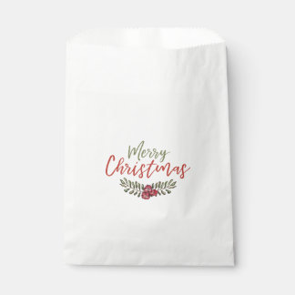 Christmas Floral Wreath | Favor Bag