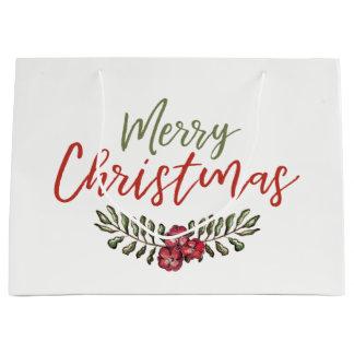 Christmas Floral Wreath | Gift Bag