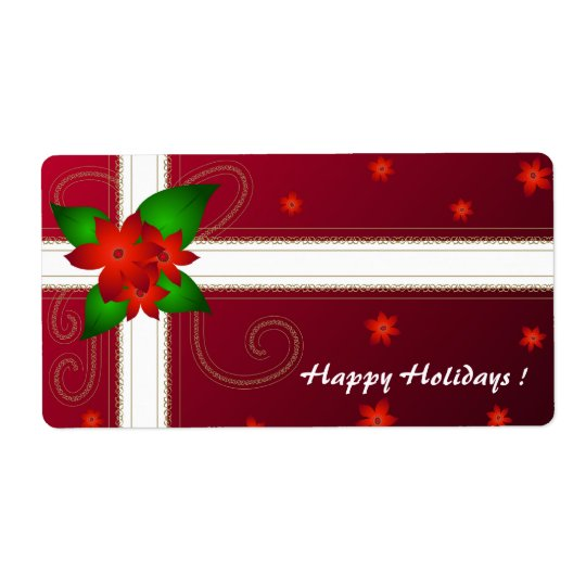 Christmas flowers - Label Shipping Label