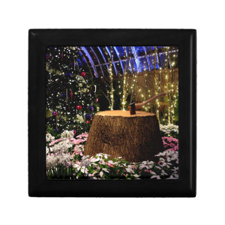 Christmas Flowers Small Square Gift Box