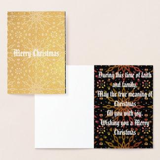 Christmas Foil Card