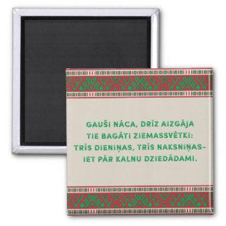 Christmas Folk Song I Latviesu Tautasdziesma Magnet