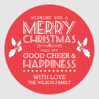 Christmas Food Stickers / Labels