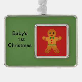 Christmas for baby's first Christmas Silver Plated Framed Ornament