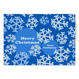 Christmas for Godfather, Abstract Snowflake Design Card