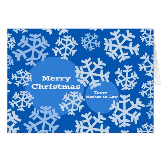 Christmas for Mother-in-Law, Snowflake Design Card
