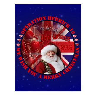 Christmas for Operation Herrick 19 Postkarte