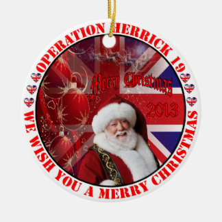 Christmas for operation Herrick 19 Round Ceramic Decoration