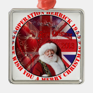 Christmas for operation Herrick 19 Silver-Colored Square Decoration