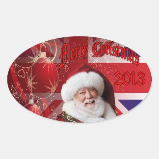 Christmas for operation Herrick 19 Oval Sticker
