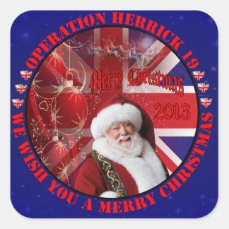 Christmas for operation Herrick 19 Sticker