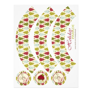 Christmas Forest Cucpake Wrappers Full Color Flyer